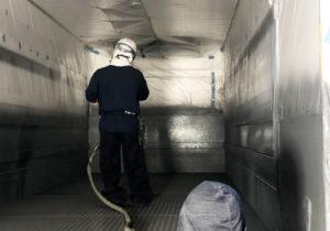 ポリウレア車塗装工事 防水・強化